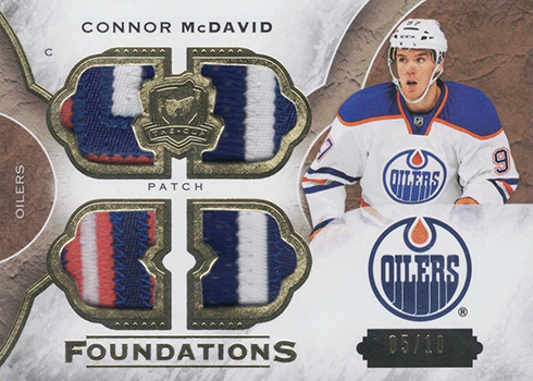 2015-16 Cup Connor McDavid Cup Foundations Quad Patch 10