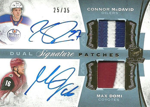 2015-16 Cup Connor McDavid Max Domi Dual Signature Patches 35