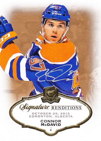 2015-16 Cup Connor McDavid Signature Renditions