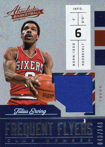 2016-17 Panini Absolute Basketball Frequent Flyers Julius Erving