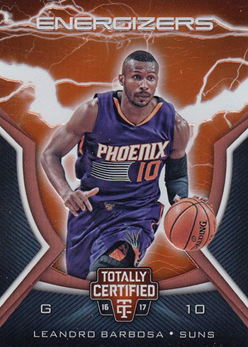 2016-17 Panini Totally Certified Basketball Energizers Leandro Barbosa