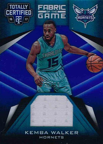 2016-17 Panini Totally Certified Basketball Fabric of the Game Blue Kemba Walker