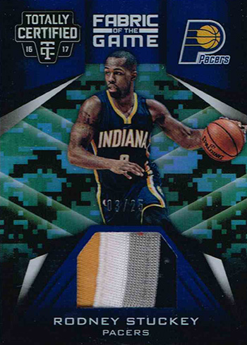 2016-17 Panini Totally Certified Basketball Fabric of the Game Camo Rodney Stuckey