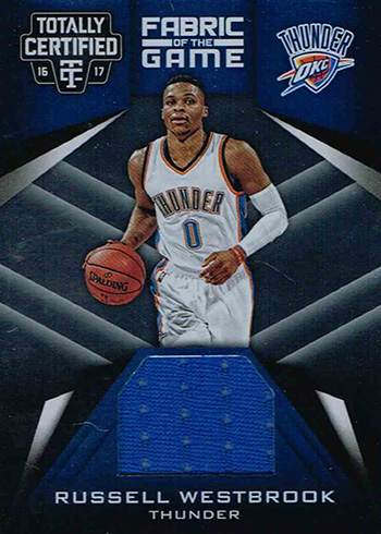 2016-17 Panini Totally Certified Basketball Fabric of the Game Russell Westbrook