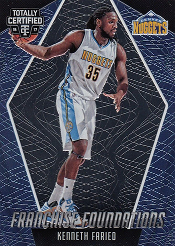2016-17 Panini Totally Certified Basketball Franchise Foundations Kenneth Faried