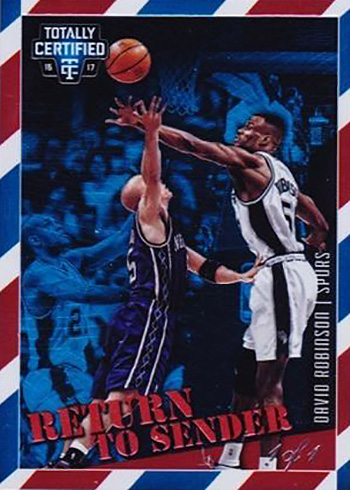 2016-17 Panini Totally Certified Basketball Return to Sender Holo Blue David Robinson 1-1