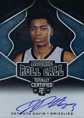 2016-17 Panini Totally Certified Basketball Rookie Roll Call Deyonta Davis