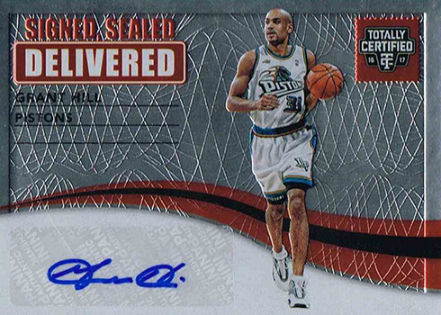 2016-17 Panini Totally Certified Basketball Signed Sealed and Delivered Grant Hill