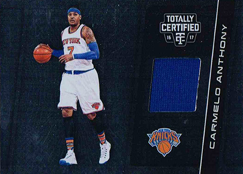 2016-17 Panini Totally Certified Basketball Totally Certified Materials Carmelo Anthony