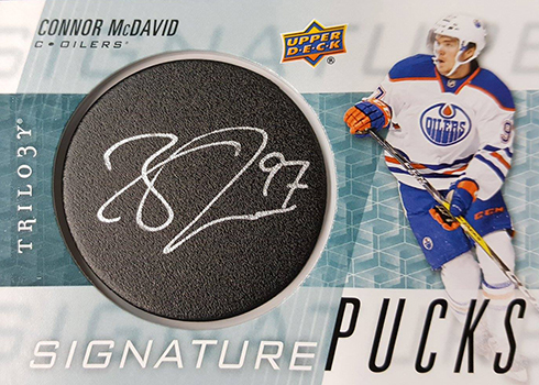 2016-17 Upper Deck Trilogy Signature Pucks Connor McDavid