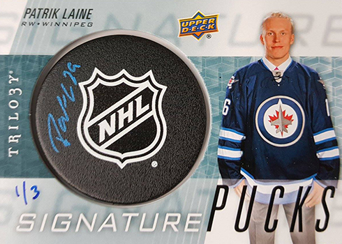 2016-17 Upper Deck Trilogy Signature Pucks NHL Shield Logo Patrik Paine