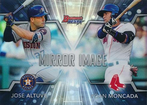 2016 Bowmans Best Baseball Mirror Image Jose Altuve Yoan Moncada
