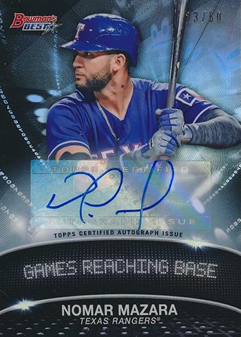 2016 Bowmans Best Baseball Stat Lines Autograph Nomar Mazara