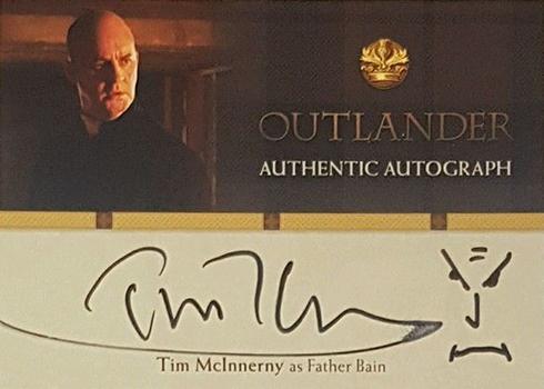 2016 Cryptozoic Outlander Season 1 Autographs Tim McInnerny Doodle Face