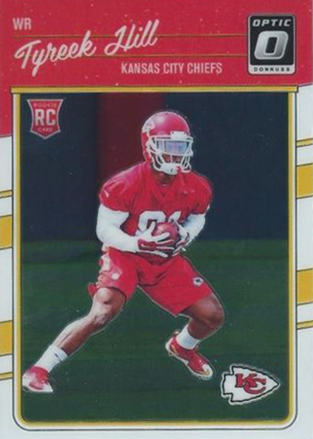 2016 Donruss Optic Football Base Rookie Tyreek Hill