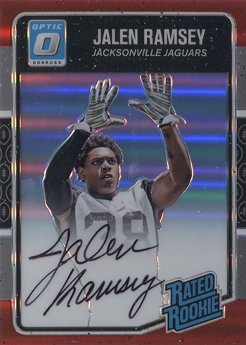 2016 Donruss Optic Football Rated Rookie Autographs Red Jalen Ramsey