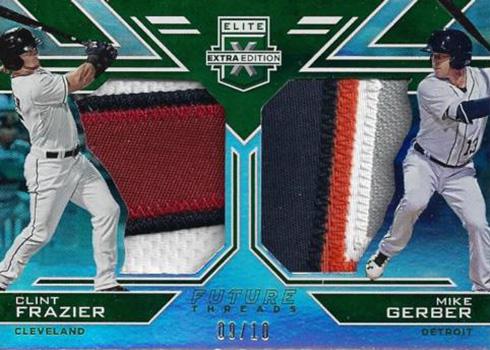 2016 Elite Extra Edition Baseball Future Threads Dual Materials Emerald