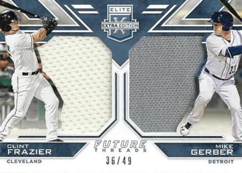 2016 Elite Extra Edition Baseball Future Threads Dual Materials Silver