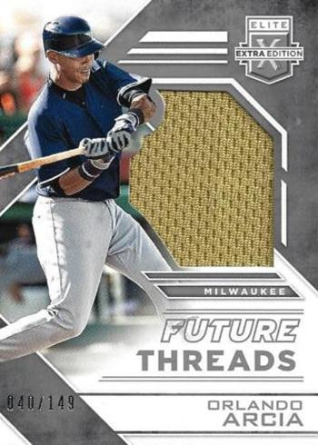 2016 Elite Extra Edition Baseball Future Threads Silhouettes Silver