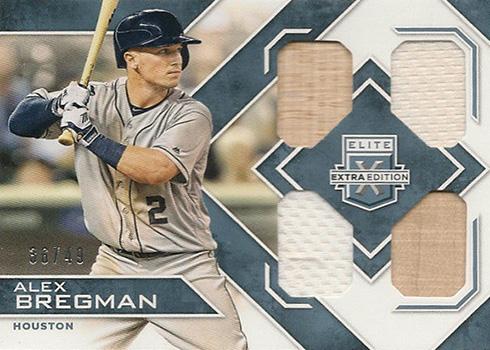 2016 Elite Extra Edition Baseball Quad Materials Holo Silver Alex Bregman