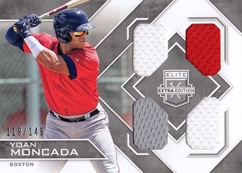 2016 Elite Extra Edition Baseball Quad Materials Silver