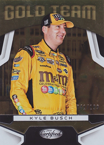2016 Panini Certified Racing Gold Team Kyle Busch