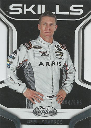 2016 Panini Certified Racing Skills Card Edwards