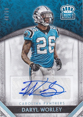 2016 Panini Crown Royale Football Rookie Autographs Platinum Daryl Worley