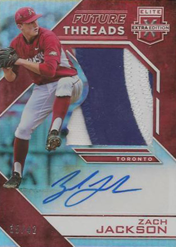2016 Panini Elite Extra Edition Baseball Future Threads Autographs Red Zach Jackson
