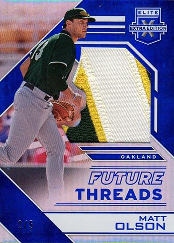 2016 Panini Elite Extra Edition Baseball Future Threads Silhouettes Blue