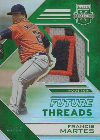 2016 Panini Elite Extra Edition Baseball Future Threads Silhouettes Green Francis Martes