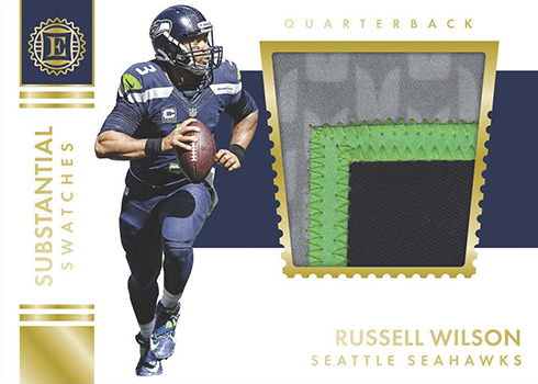 2016 Panini Encased Football Substantial Swatches Gold