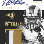 2016 Panini Encased Football Vaulted Veteran Material Signatures Gold