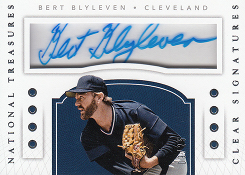 2016 Panini National Treasures Baseball Clear Signatures Bert Blyleven