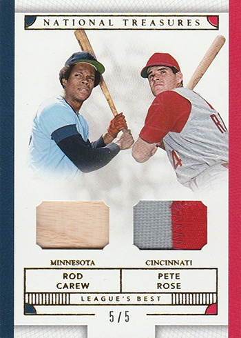 2016 Panini National Treasures Baseball Leagues Best Gold Rod Carew Pete Rose
