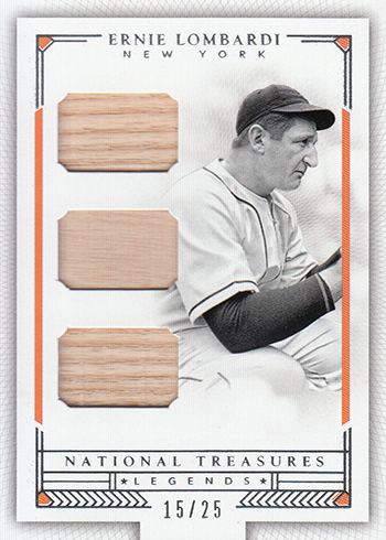 2016 Panini National Treasures Baseball Legends Trios Ernie Lombardi