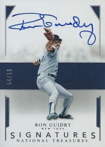 2016 Panini National Treasures Baseball Signatures Ron Guidry