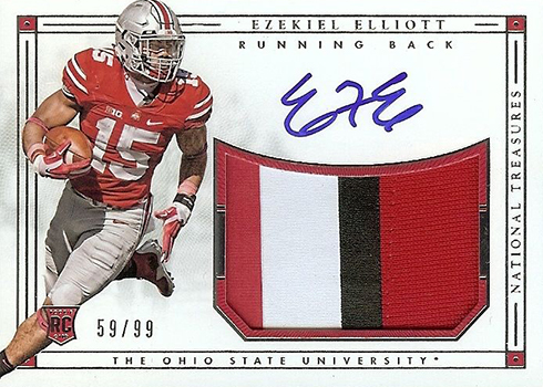 2016 Panini National Treasures Collegiate Ezekiel Elliott