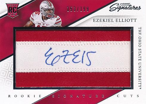 2016 Panini Prime Signatures Ezekiel Elliott RC
