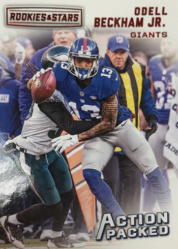 2016 Panini Rookies and Stars Football Action Packed Odell Beckham Jr