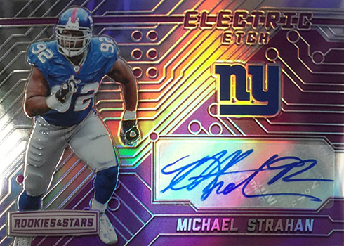 2016 Panini Rookies and Stars Football Electric Etch Michael Strahan