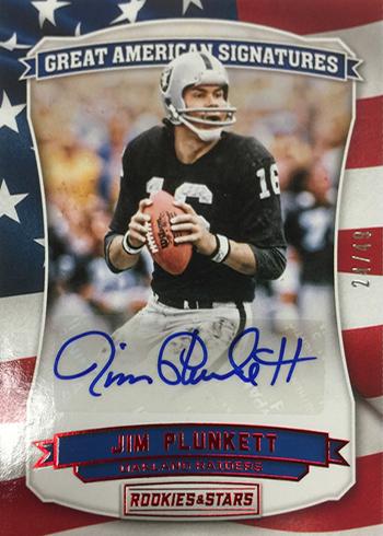 2016 Panini Rookies and Stars Football Great American Signatures Jim Plunkett