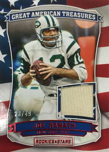 2016 Panini Rookies and Stars Football Great American Treasures Joe Namath