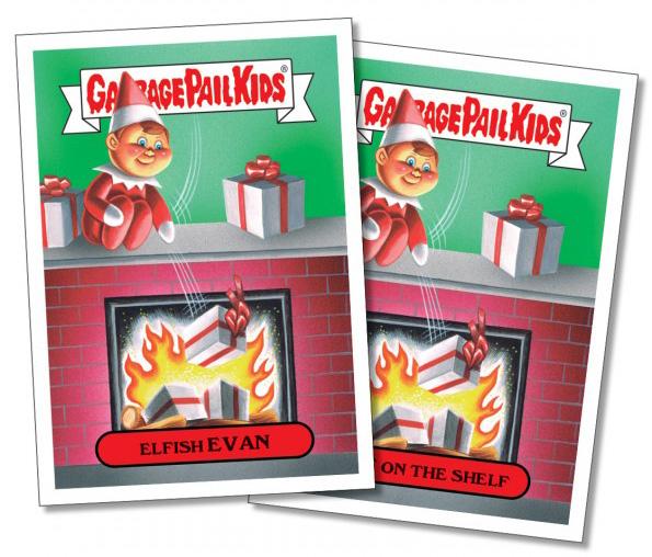 2016 Topps Garbage Pail Kids GPK 2016 Christmas Sticker 2B Stuffed STEFFANIE