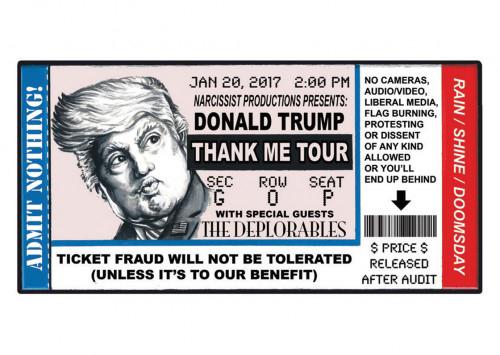 2016 Topps Garbage Pail Kids Dis-grace to the White House 101 Donald Trump Thank Me Tour