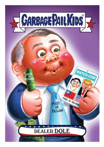 2016 Topps Garbage Pail Kids Dis-grace to the White House 103 Dealer Dole