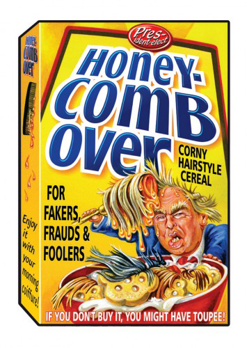 2016 Topps Garbage Pail Kids Dis-grace to the White House 104 Honey Comb Over
