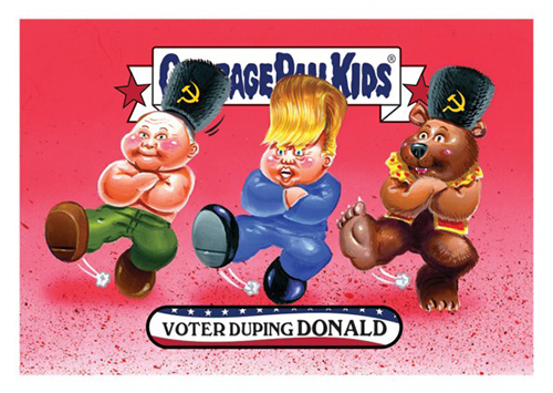 2016 Topps Garbage Pail Kids Dis-grace to the White House 109 Voter Duping Donald