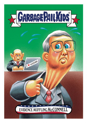 2016 Topps Garbage Pail Kids Dis-grace to the White House 110 Evidence Muffling McConnell