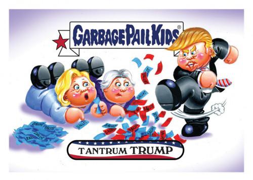 2016 Topps Garbage Pail Kids Dis-grace to the White House 89 Tantrum Trump